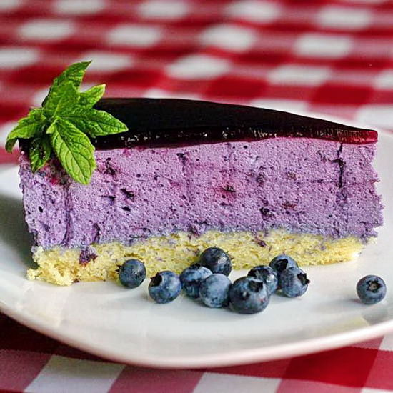 Blueberry Mousse Cake Delice Des Bleuets Rock Recipes