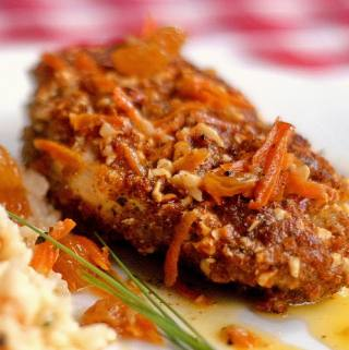 Almond and Summer Savoury Crusted Chicken Breast