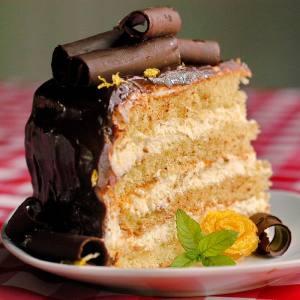 Lemon Cream Chocolate Ganache Cake