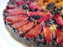 Blueberry Apple Upside Down Cake