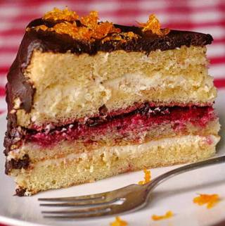 Chocolate Orange Partridgeberry Cream Cheese Cake