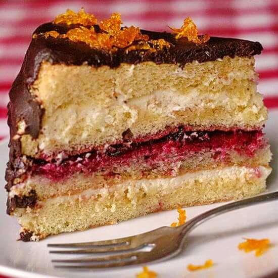 Chocolate Orange Partridgeberry Cream Cheese Cake - Rock Recipes ...