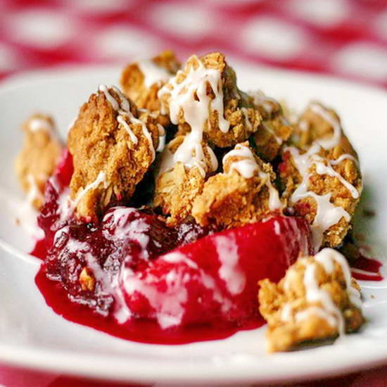 Partridgeberry Apple Crumble  or Cranberry Apple Crumble