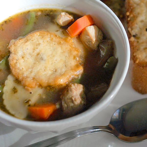 Turkey Agnolotti Soup