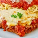 Easy 30 Minute Chicken Parmesan close up photo