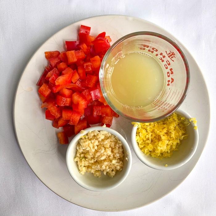 Ingredients for Super Simple Shrimp Scampi