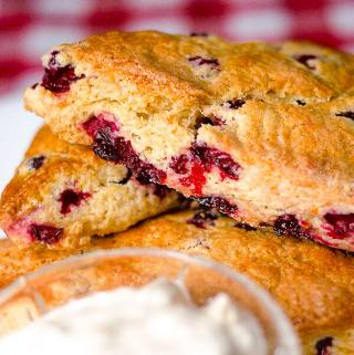 Partridgeberry Orange Scones
