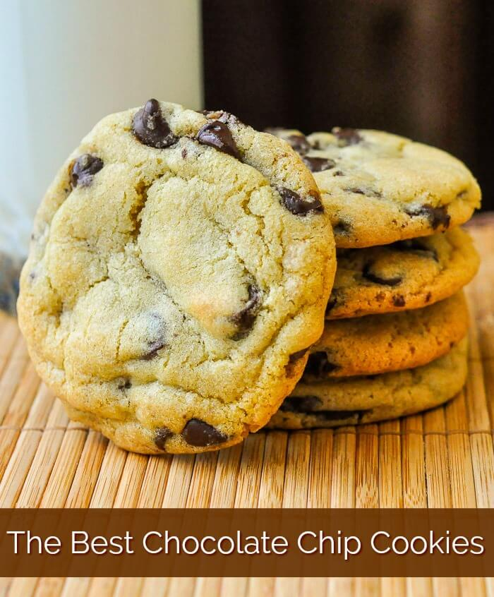 The Best Chocolate Chip Cookies image with title text