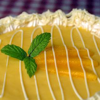 Mango-Lime White Chocolate and Cream Cheese Mousse Cake