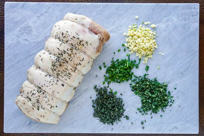 Herb Crusted Pork Loin ingredients