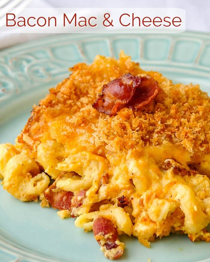 Bacon Macaroni and Cheese image with title text