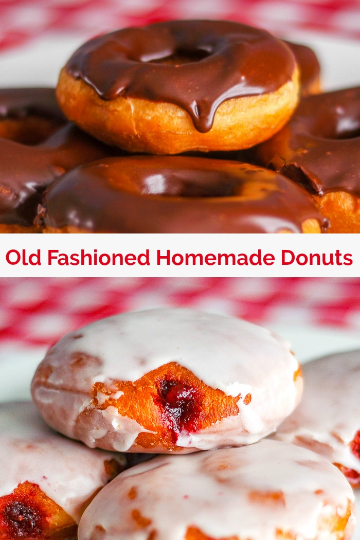 Homemade donuts image with title text for Pinterest