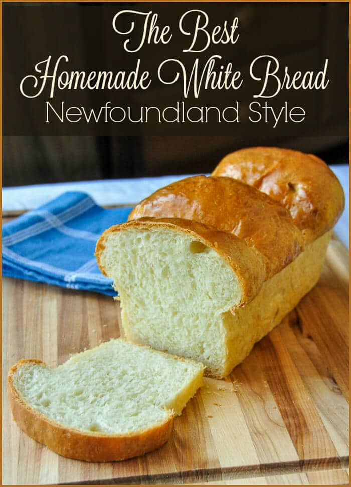The Best Homemade White Bread. Nothing says home baked comfort food goodness like a perfectly baked crusty loaf of homemade bread, fresh from the oven. This recipe is well over 40 years old and turns put perfectly every time.