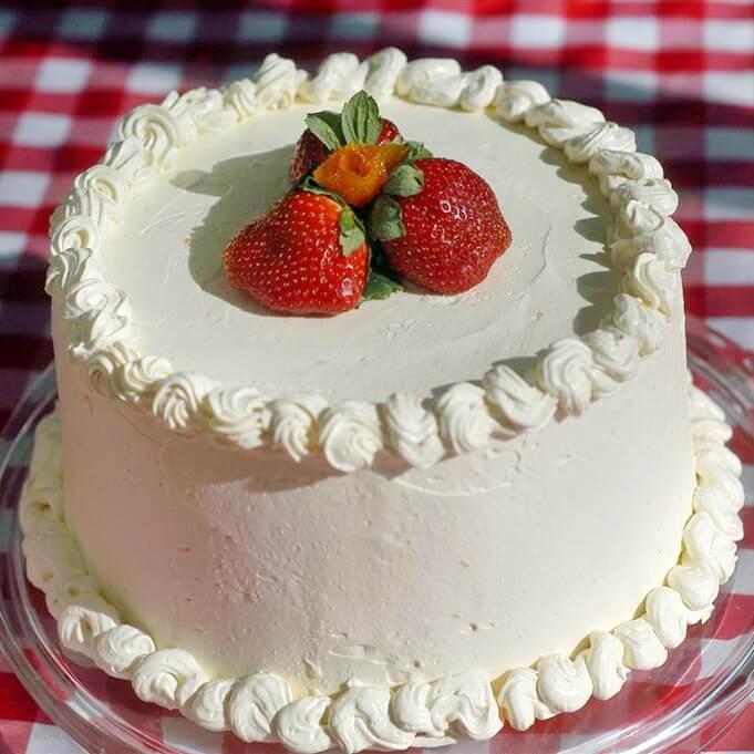 Strawberry Orange Buttercream Cake - Rock Recipes