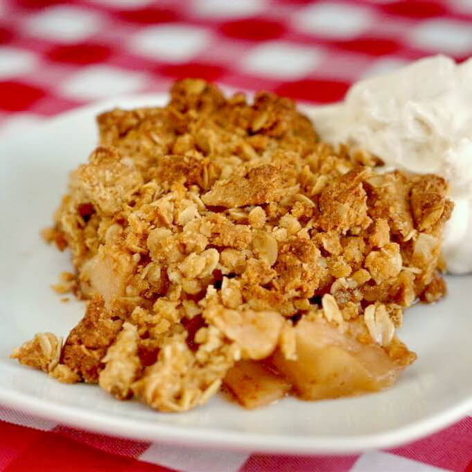 The Best Apple Crisp - Rock Recipes