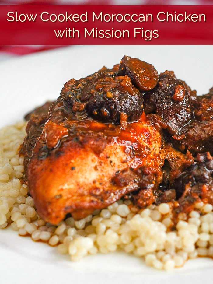 Moroccan Chicken photo with title text added for Pinterest