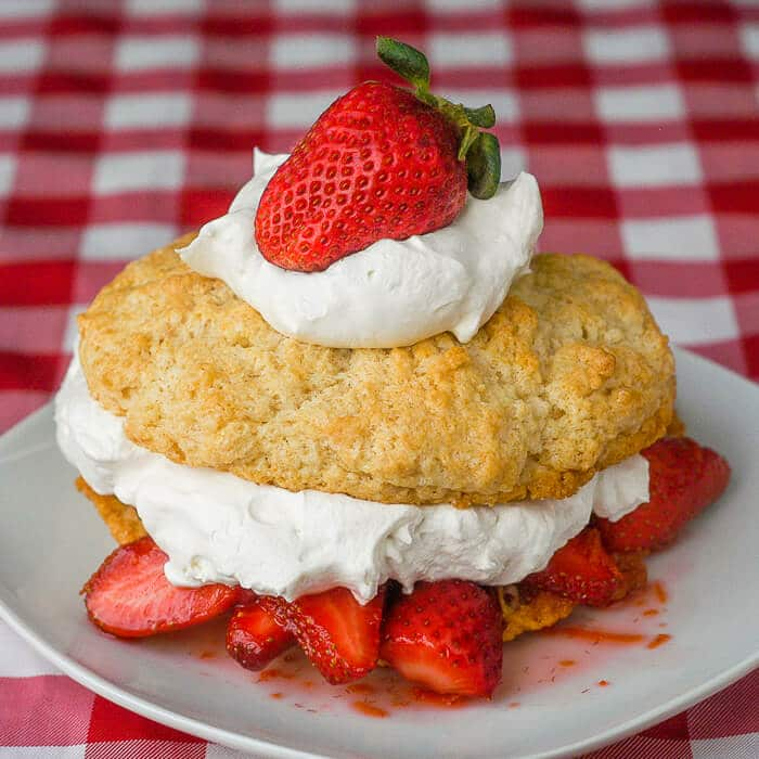 Strawberry Orange Shortcake with Cointreau