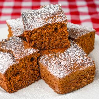 Sweet Potato Snack Cake close up photo of cake pieces