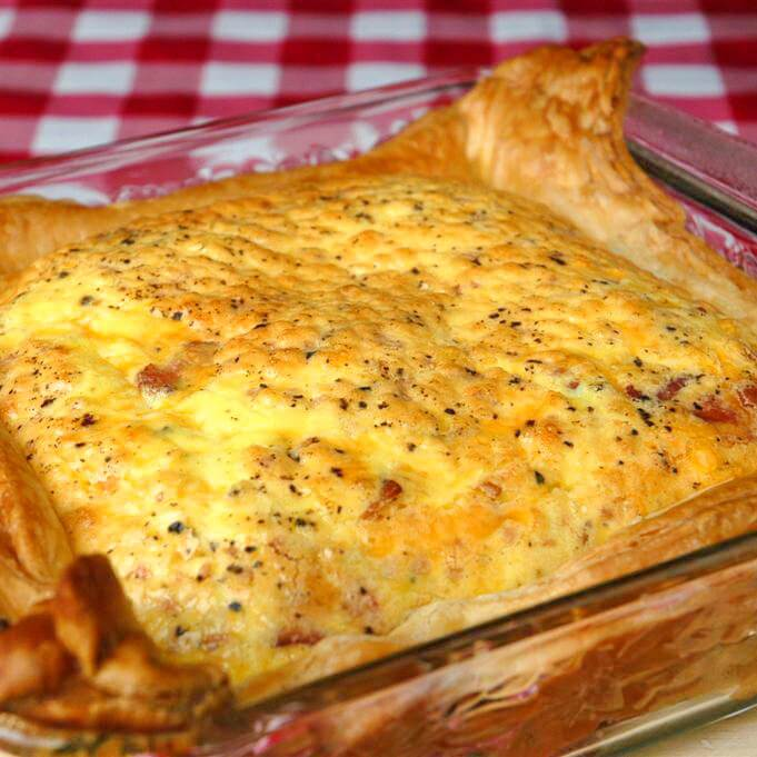Easy Puff Pastry Bacon and Cheddar Quiche - Rock Recipes - Rock ...