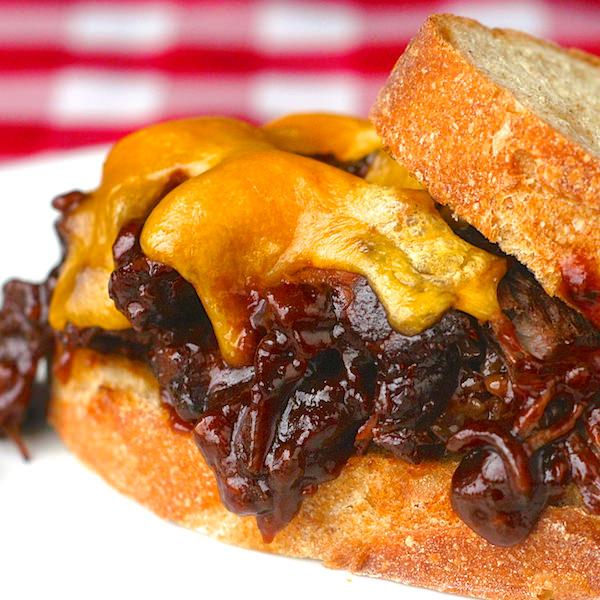 Blackstrap Barbecue Braised Beef Sandwiches