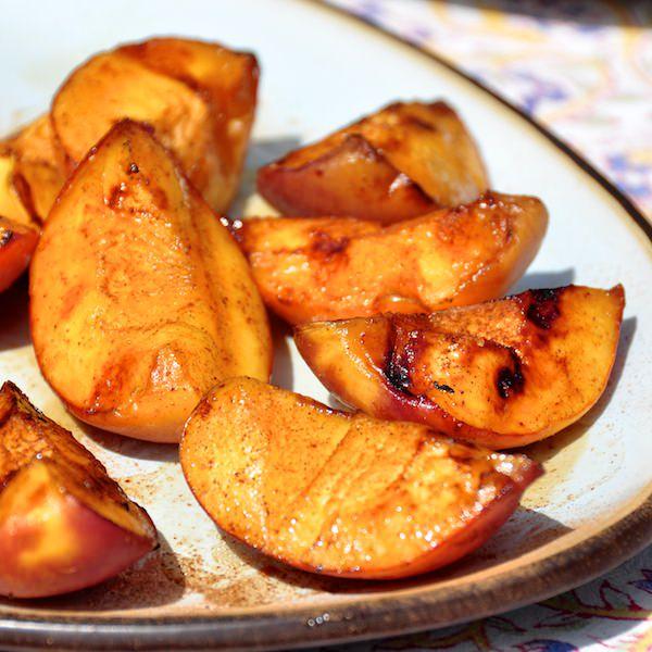 Rum Marinated Grilled Peaches Rock Recipes