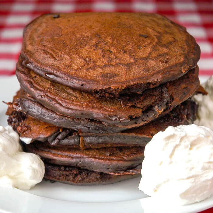 Chocolate Toblerone Pancakes
