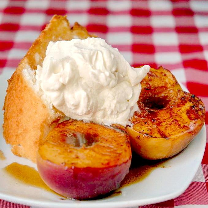 Rum Marinated Grilled Peaches