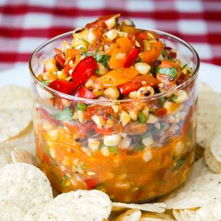 Grilled Corn Salsa with Roasted Tomatoes