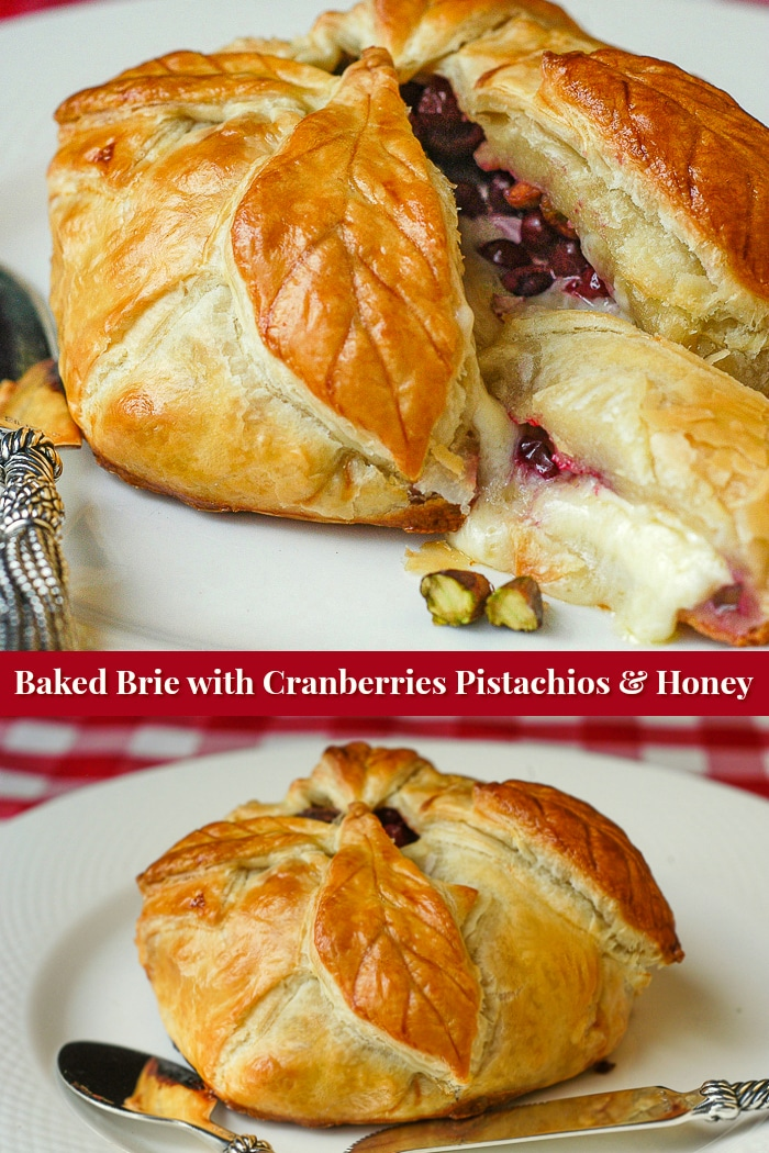 Baked Brie photo collage with title text for Pinterest