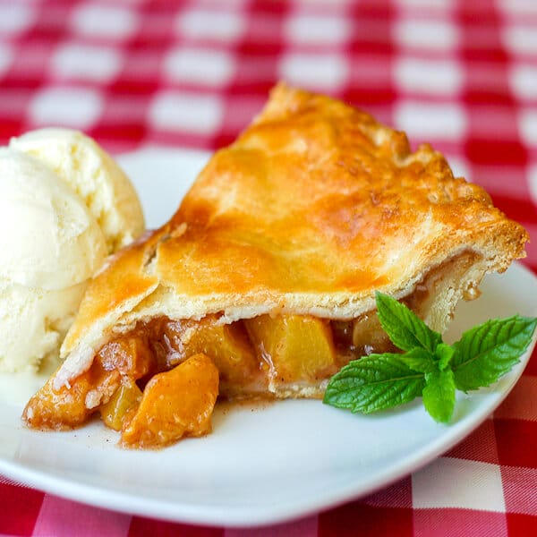 Sour Cream Pastry Crust Peach Pie