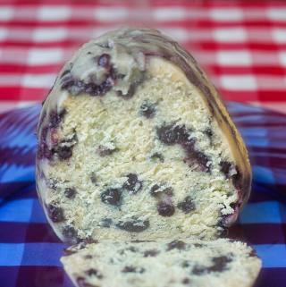 Blueberry Duff - a traditional Newfoundland steamed pudding.