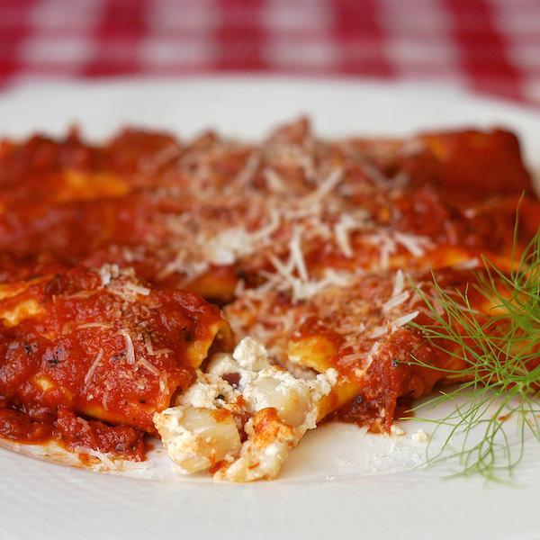 Scallop Bacon Ricotta Cannelloni