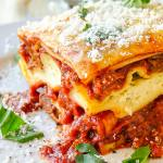 Chicken Chorizo Lasagna close up photo