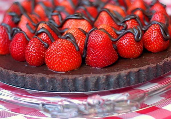 Strawberry Chocolate Truffle Tart