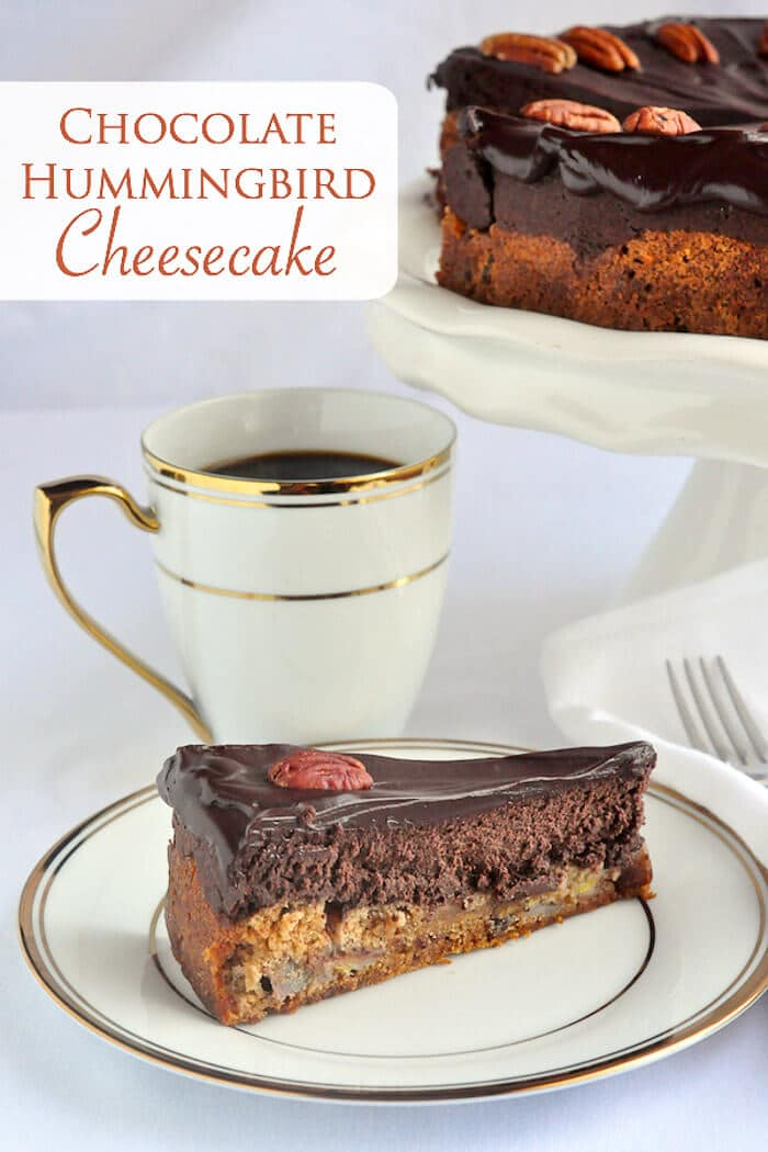 Chocolate Hummingbird Cheesecake