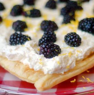 Blackberry White Chocolate Galette