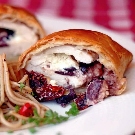 Mediterranean Chicken Wellington