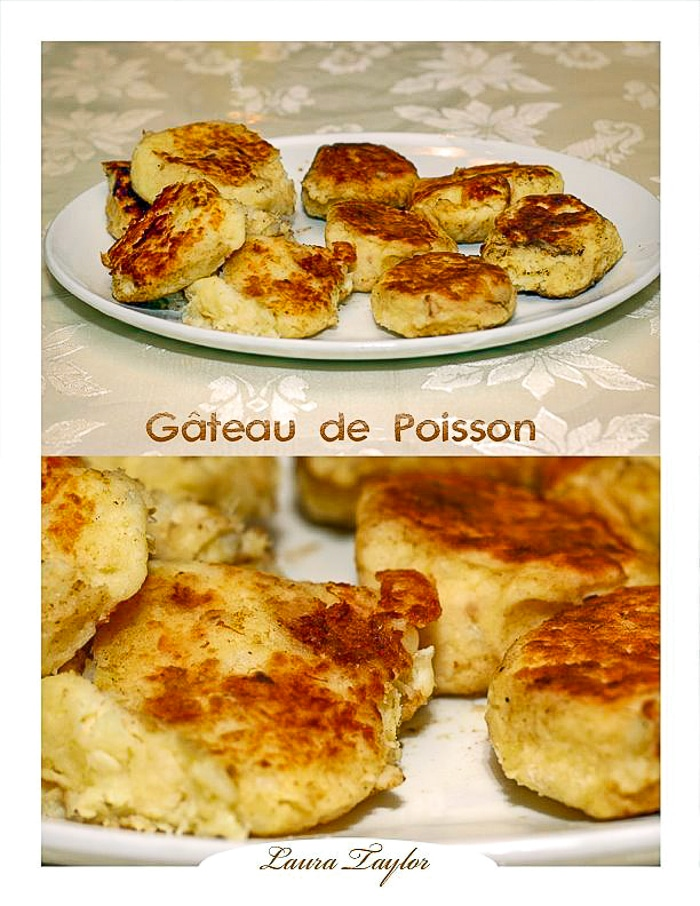 Photo collage of Newfoundland fish cakes by Laura Taylor