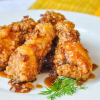 Crispy Honey Garlic Chicken Wings