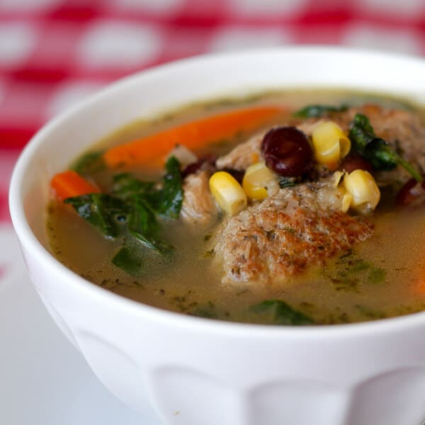 Easy Chicken Meatball Minestrone
