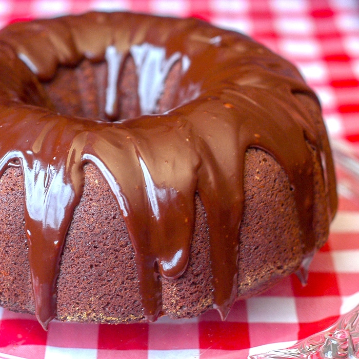 Ginger Bundt Cake with Chocolate Nutmeg Ganache Glaze