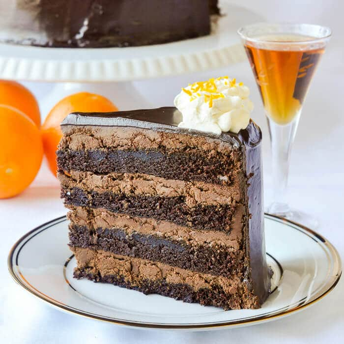 Chocolate Orange Truffle Cake with Chocolate Cointreau Glaze