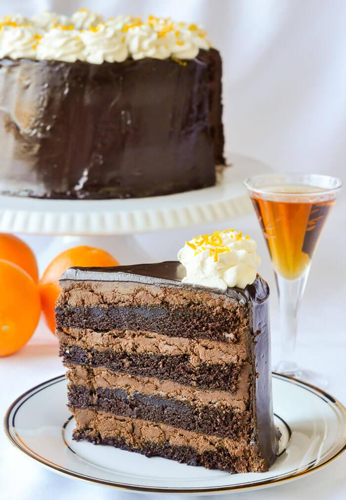 Chocolate Orange Truffle Cake with Chocolate Cointreau Glaze