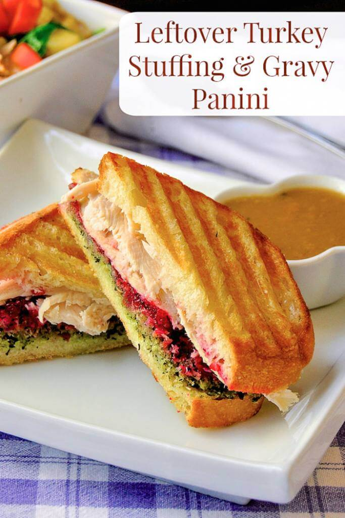 Turkey Dressing and Gravy Panini