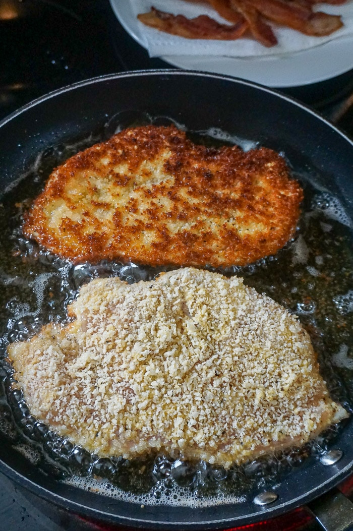 6. Shallow fry the chicken breasts