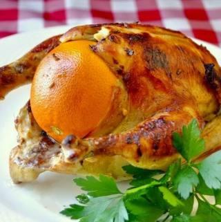 Orange Ginger Roast Chicken