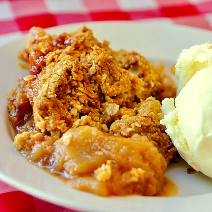 Five Spice Apple Crumble