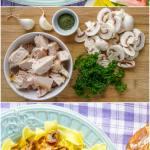 Easy Leftover Turkey Stroganoff Image Collage for Pinterest