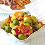 Bacon Cashew Brussel Sprouts