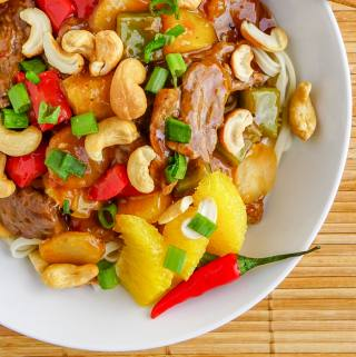 Orange Beef with Cashews